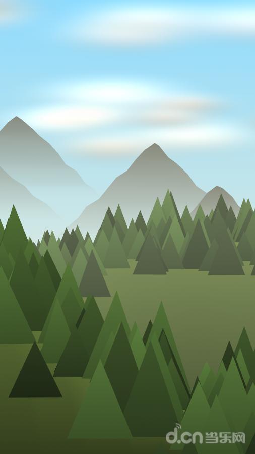 功能:  - 基于位置昼夜循环  - 动画森林  - 位置天气  - 滚动时的